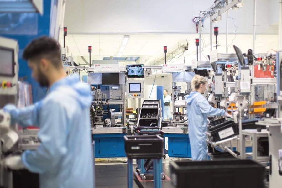 Acoustique industrielle - Ligne de fabrication