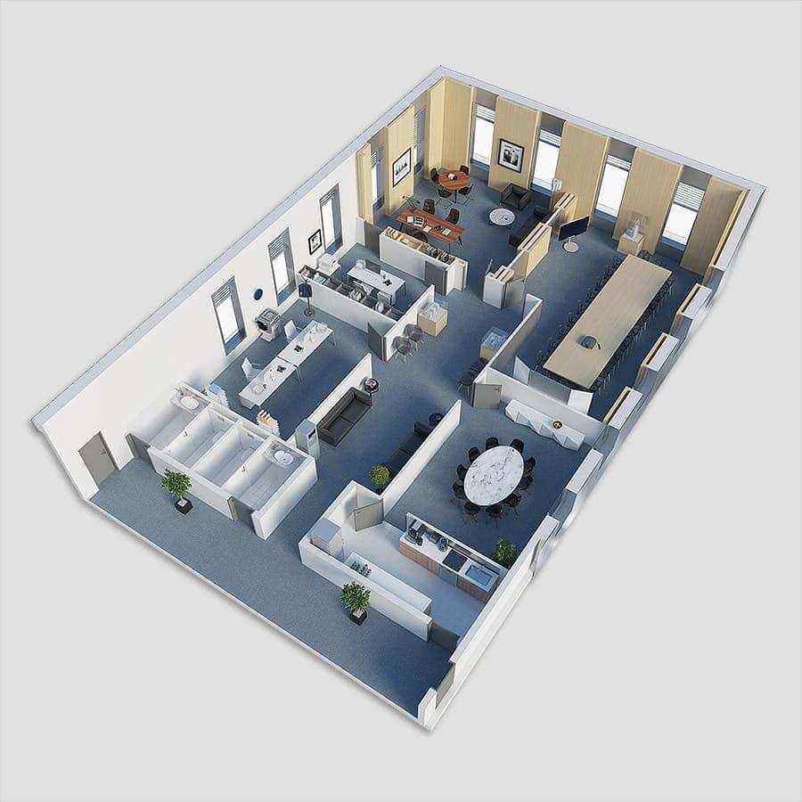 Acoustique du bâtiment - Plan 3D